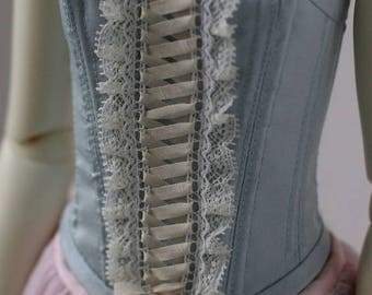 Baby blue dupioni silk corset for BJD SD13 Girl