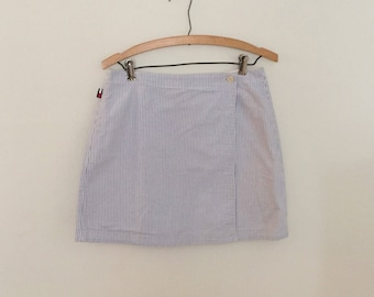 Light Blue and White Striped Skirt - Early 90s