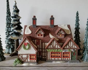 DEPT 56 ASHBURY INN Hand Painted Fine Porcelain Retired Collectable