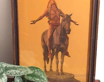 Vintage 'Appeal to the great spirit' litho in original frame