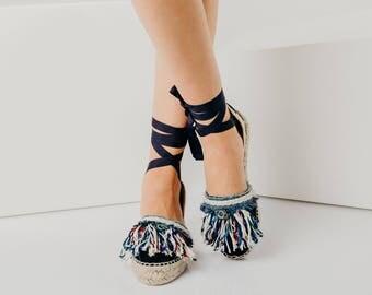 Espadrilles,Lace Up Espadrilles,Womens Espadrille Sandals,trendy espadrille sandals,handmade espadrilles,Ankle Tie Espadrille Sandals, women