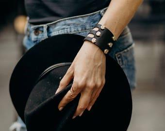 Little Studded Cuff Bracelet, Gift for Her