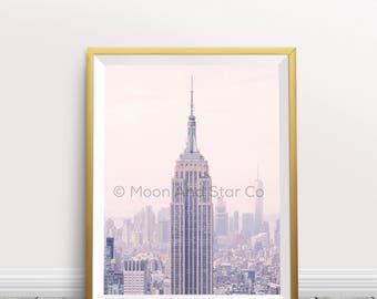 PRINTABLE - New York City Empire State - Art Print - Quote Print - Print - Wall Art - Quote Wall Art - Instant Download - Nursery Print Art