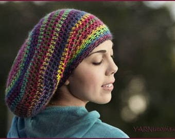 DIGITAL DOWNLOAD: PDF Crochet Pattern for the Slouchy Hat