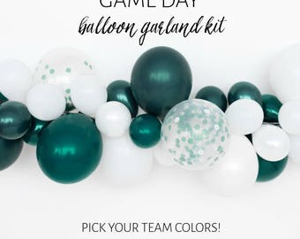DIY Balloon Garland Kit - GAME DAY- Pick Your Team Colors!