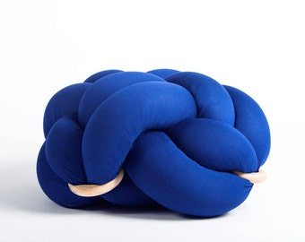 Large knot Floor Cushion in Royal Blue, Knot Floor Pillow pouf, Modern pouf, cushion, pouf ottoman, Meditation Pillow,
