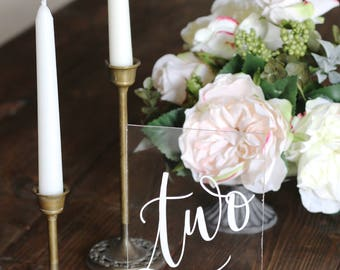 new acrylic wedding table numbers with stand calligraphy table numbers spanish table numbers