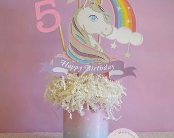 Unicorn Centerpiece, Unicorn Birthday, Unicorn Party, Unicorn Decoration, Unicorn Decor, Unicorn Topper, Unicorn Celebration, Silver