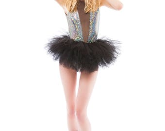 Zoe Tutu - Black Tutu - Rave Tutu - Available in Infant, Toddlers, Girls, Teenager, Adult and Plus Sizes