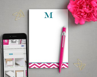 Doctor Gift | Initial Stationary | To Do List Notepad | CHEVRON INITIAL | Personalized Stationery Note Pad | Daily To-Do List