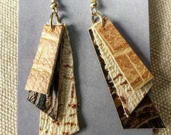 Leather Layers earrings