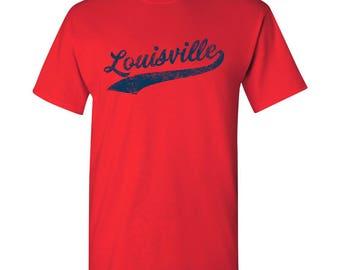 Louisville City Script T-Shirt - Red