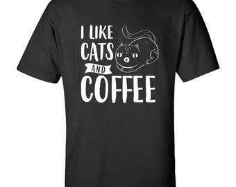 I Like Cats & Coffee T Shirt