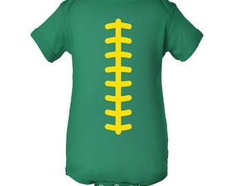 Football Team Colors Creeper - Kelly Green/Yellow