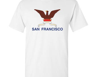 San Francisco City Flag T Shirt - White