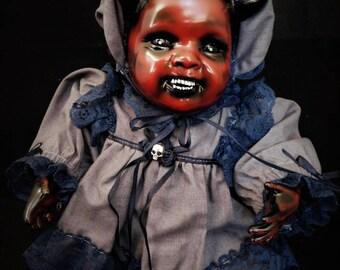 "Braeden 9"" OOAK Scary Porcelain Horror Doll"