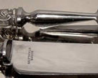 Birks Pompadour Sterling Silver 2 Pc. Small Carving Set