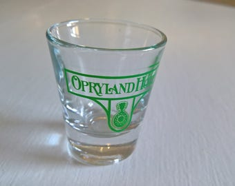 Vintage Opryland Hotel Shot Glass --- Retro American House Bar Home Decor Trinket Cup --- Nashville Tennessee Road Trip 21st Birthday Gift