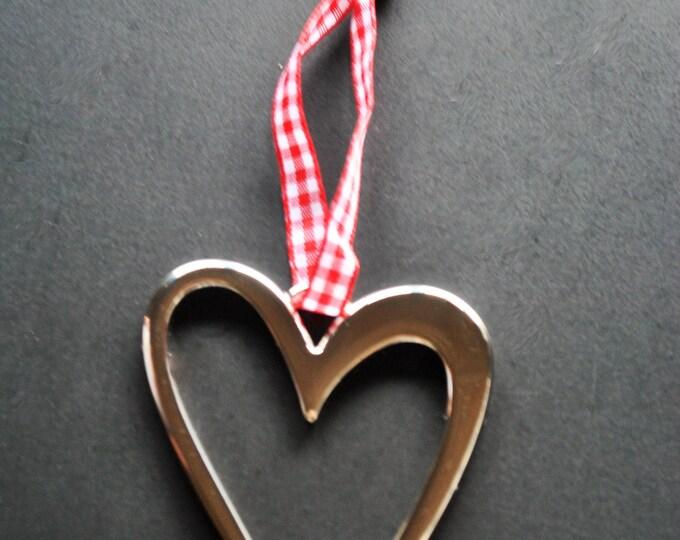 Swedish Modern Metal Heart Ornament