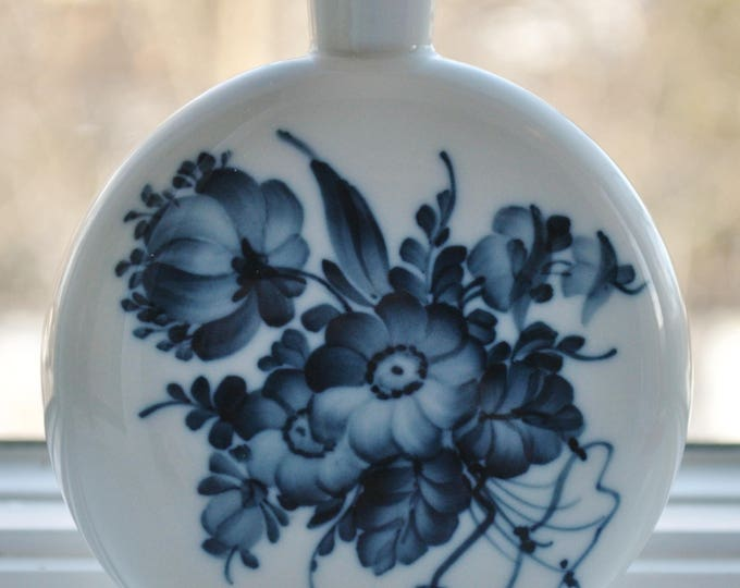 Danish Royal Copenhagen Blue Flower Perfume Bottle