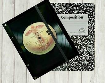 Kansas Journal Notebook - Kansas Vinyl Record Composition Book Cover - Kansas Refillable Notebook - Music Notebook - Record Art - J166B