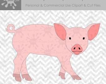 Pig SVG, Pig Clipart, Pig Cut File, Pig SVG files, Pig Clip Art, SVG Pig, Farm svg, Farm Animal svg, Farm Animal Clipart, Pig Decal svg