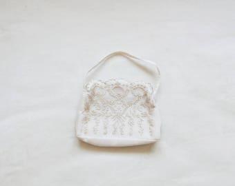 Vintage floral handbag | vintage floral embroidered lightweight purse handbag