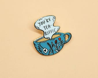 Teariffic Pin // Hard Enamel - Enamel Pin - Pin - Lapel Pin - Flair - Brooch - Collar Pin - By Justine Gilbuena