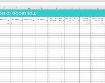 inventory spreadsheet etsy seller tool shop management. Black Bedroom Furniture Sets. Home Design Ideas