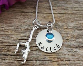 Gymnastics Gifts • Gymnastics Necklace • Gymnast Jewelry • Girl Gift • Gymnastics Jewelry • Personalized Gymnastics gift • Gift for her