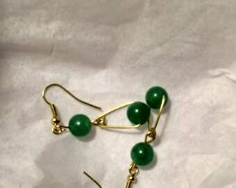Jade Drop Earrings