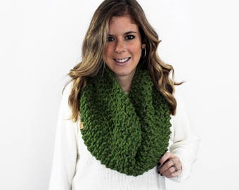 Knitted Scarf Cowl Scarf Grass- Anacostia Cowl