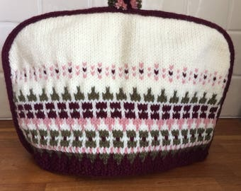 Hand Knitted Vintage Look Tea Cosy
