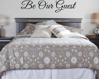 Be Our Guest Wall Decal Guest Bedroom Decal Home Decor  Bedroom Decal Guest Room Decor Wall Quote Be Our Guest  Be Our Guest Wall Wedding