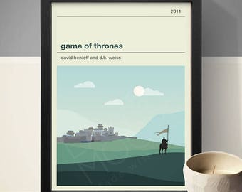 Game of Thrones Winterfell Poster, TV Print, Print, Poster