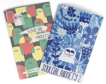 Soulcial Anxiety 1 & 2, Comic Illustration Zine