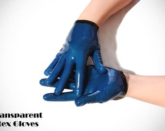 Sexy short latex gloves with rare colors!