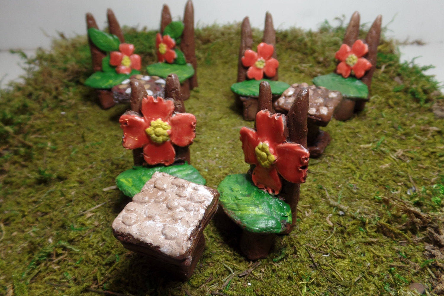 Fairy furniture set miniature garden accessories table and for Indoor gardening accessories