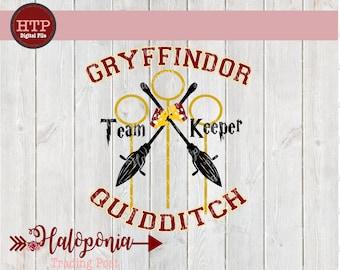 Gryffindor Quidditch Keeper SVG File (Harry Potter)