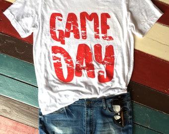 game day tee,  game day shirt, football shirt, huskers shirt, sorority game day shirt