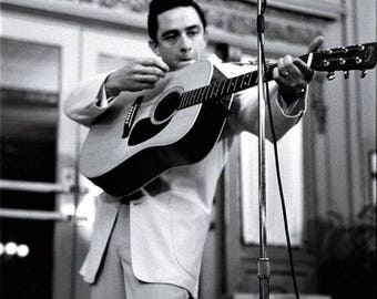 Johnny Cash on stage in the late 1950's