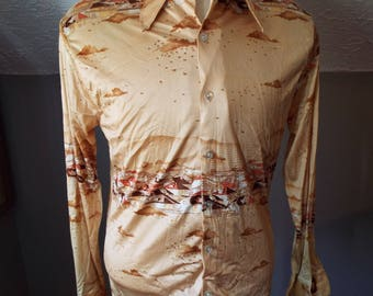 Vintage Long Sleeve Button Down Shirt by California