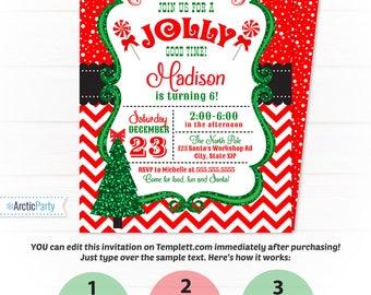 christmas dinner invitation template