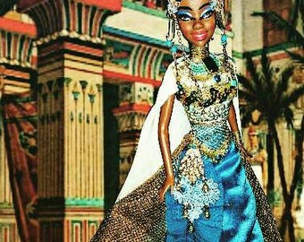 Queen Nefertiti of Egypt Nubian Queen OOAK Barbie doll