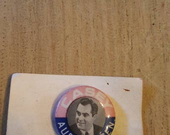 Casey Pennsylvania Auditor General Pin, Election Pin Mid 80's