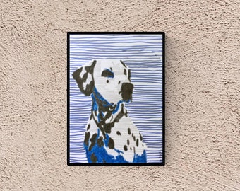 Dalmatian dog: custom portrait - custom pet portrait - dog portrait - dog illustration - pet lover gift - custom pet portraits