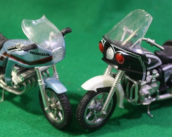 Vintage Diecast scale model Lot of  (2) Zee Toys Super Bikes Kawasaki Police 1000 and Honda CBX with original boxes