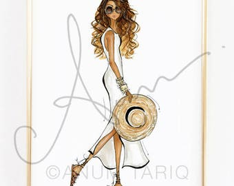 Fashion Illustration Print, Summer Vibes