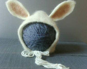 White Bunny Bonnet