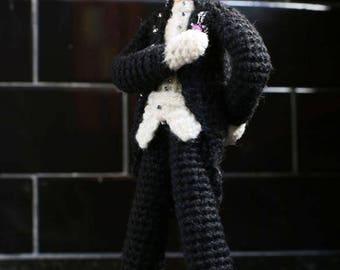 Amigurumi Doll Papa Emeritus - Ghost singer Crochet doll - Collectible Papa Emeritus doll - Amigurumi Crochet doll